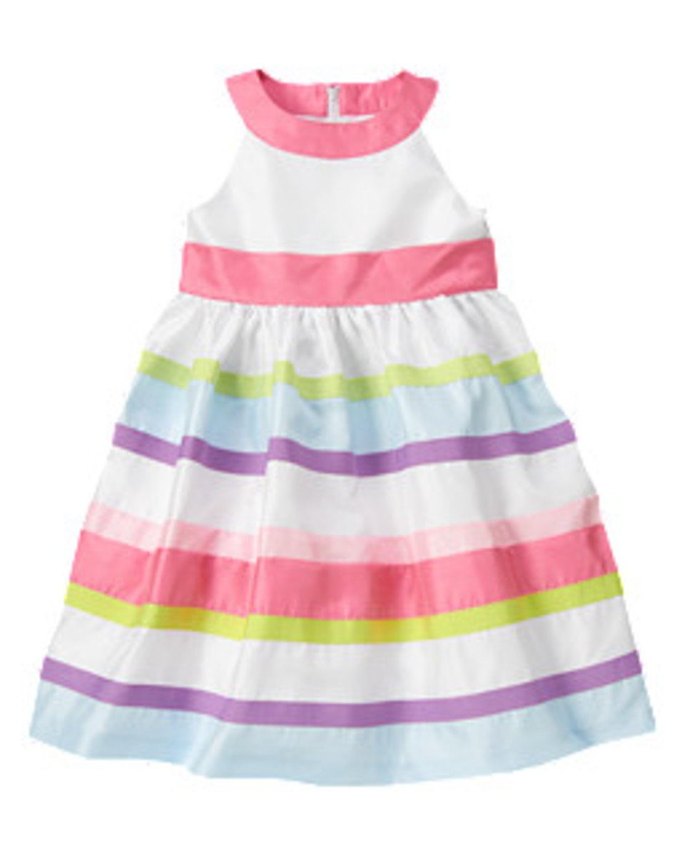 Gymboree Ribbon Stripe Duppioni Dress Inspiration
