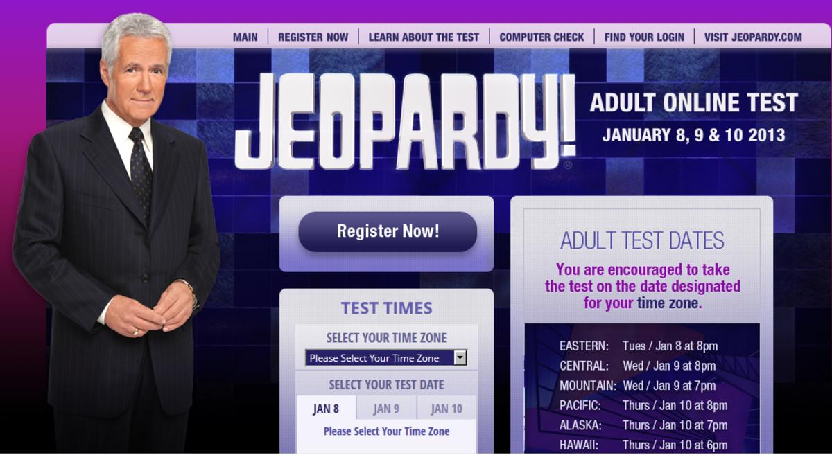 Jeopardy Online Test Registration is Open