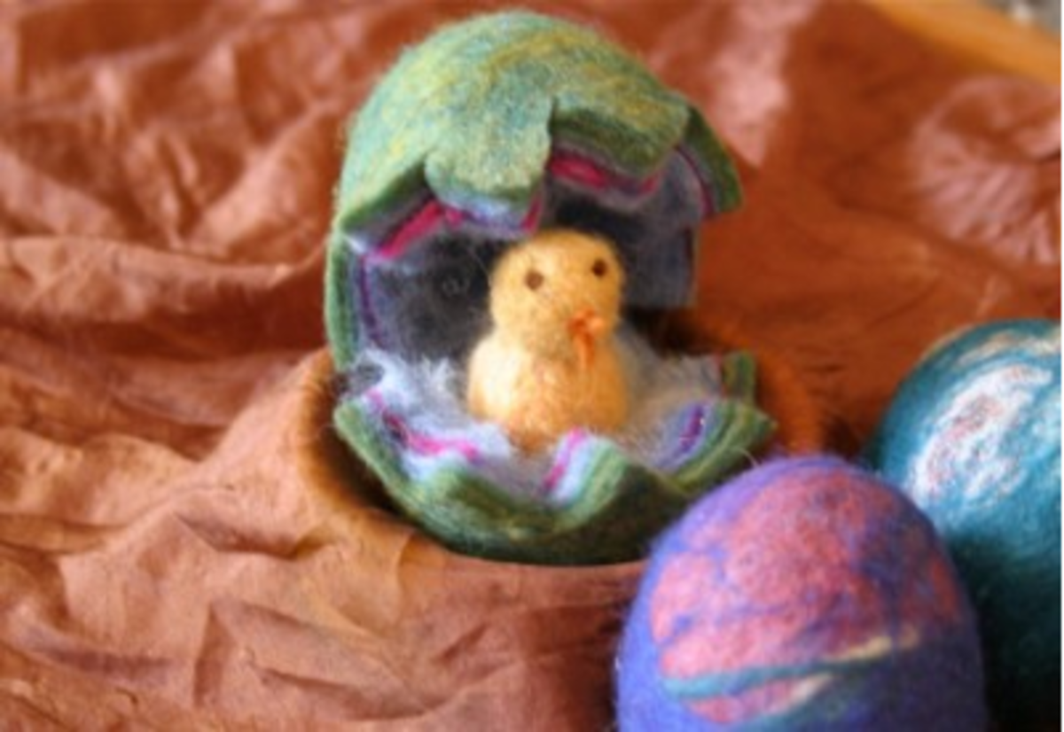 Felted Easter Egg