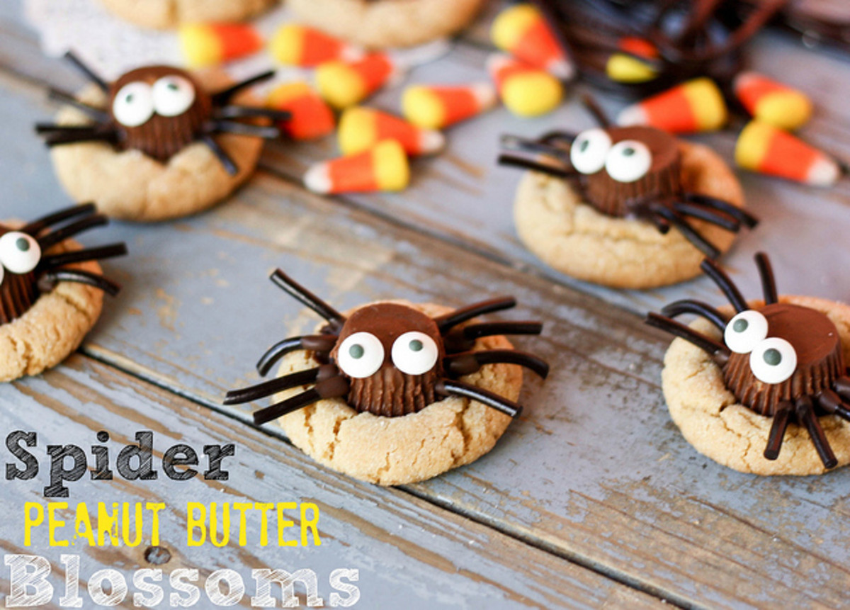 Spider Peanut Butter Blossom Cookies
