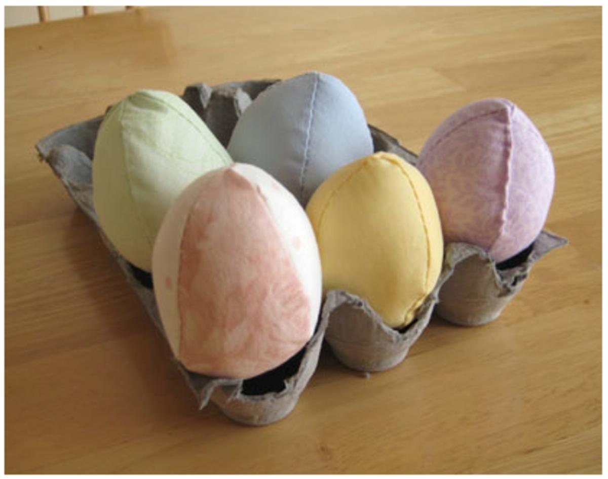 Stuffed Fabric Easter Eggs
