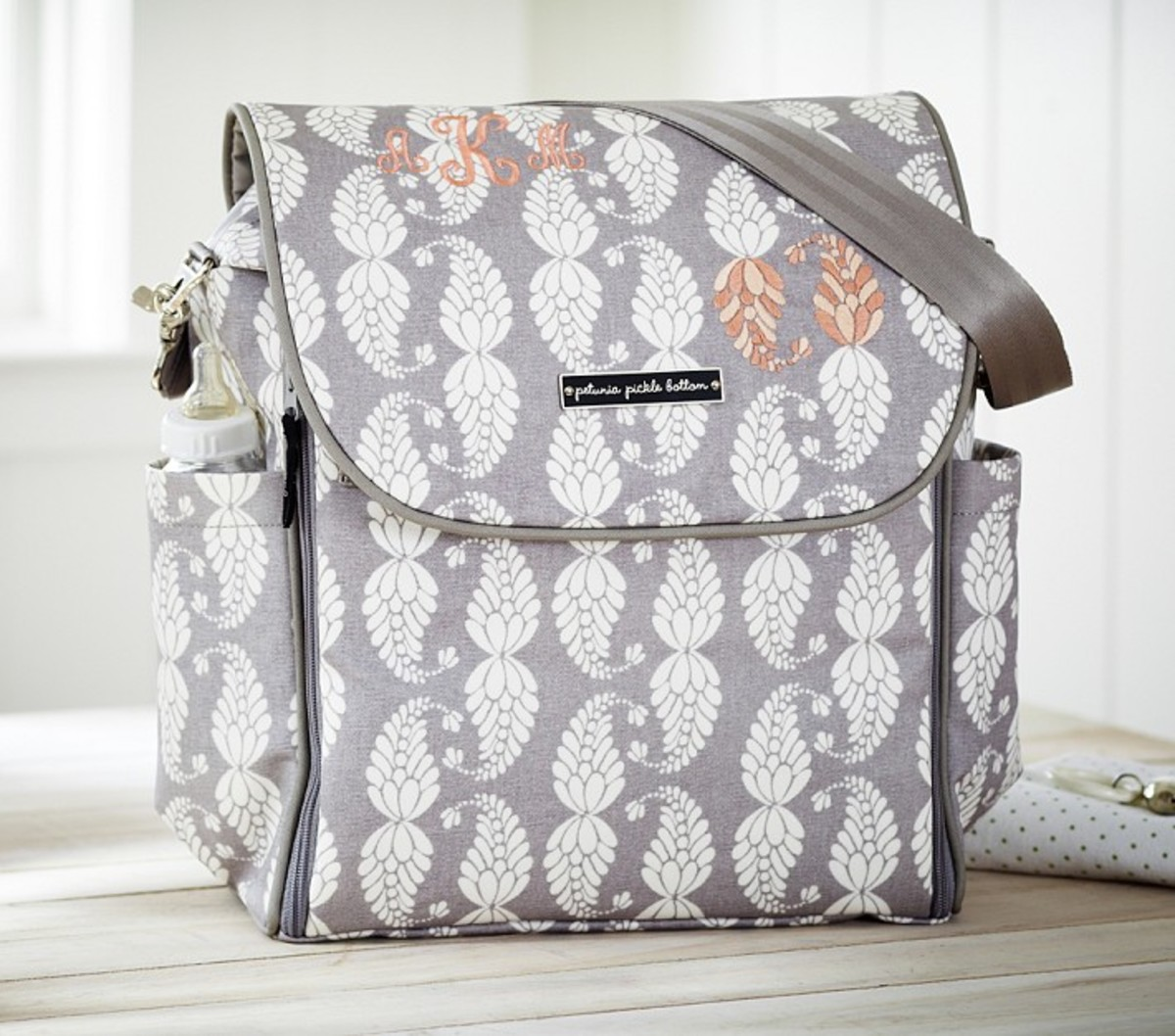 An adorable diaper bag from Petunia PIcklebottoms