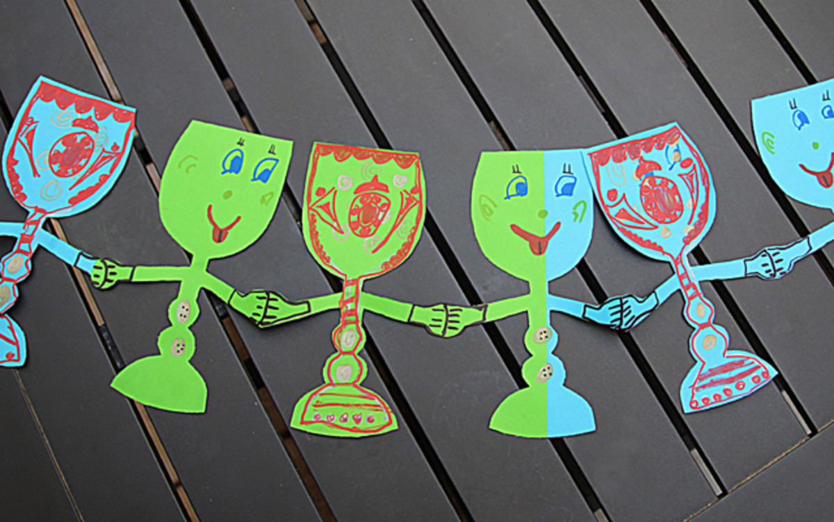 creative jewish mom goblet paper chain
