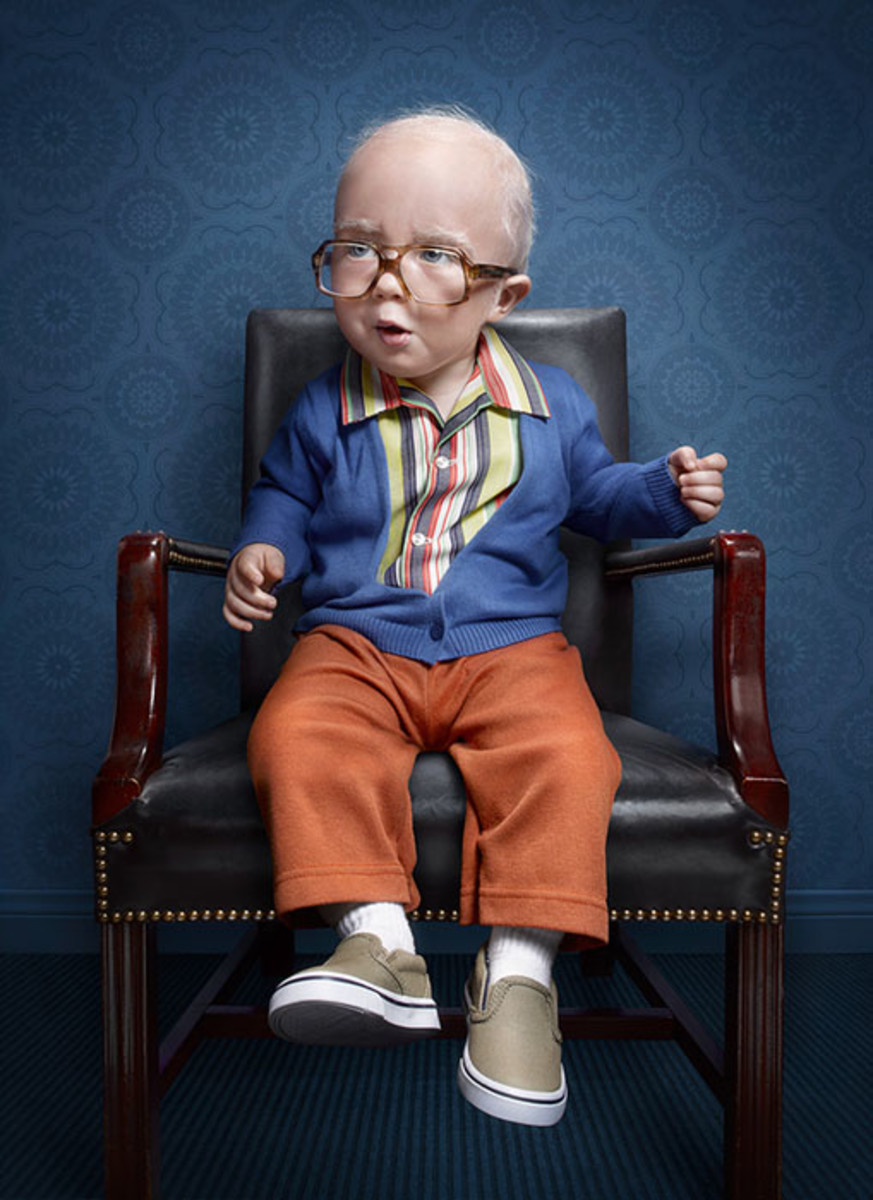 Adorable Elderly Kids Portrait Series