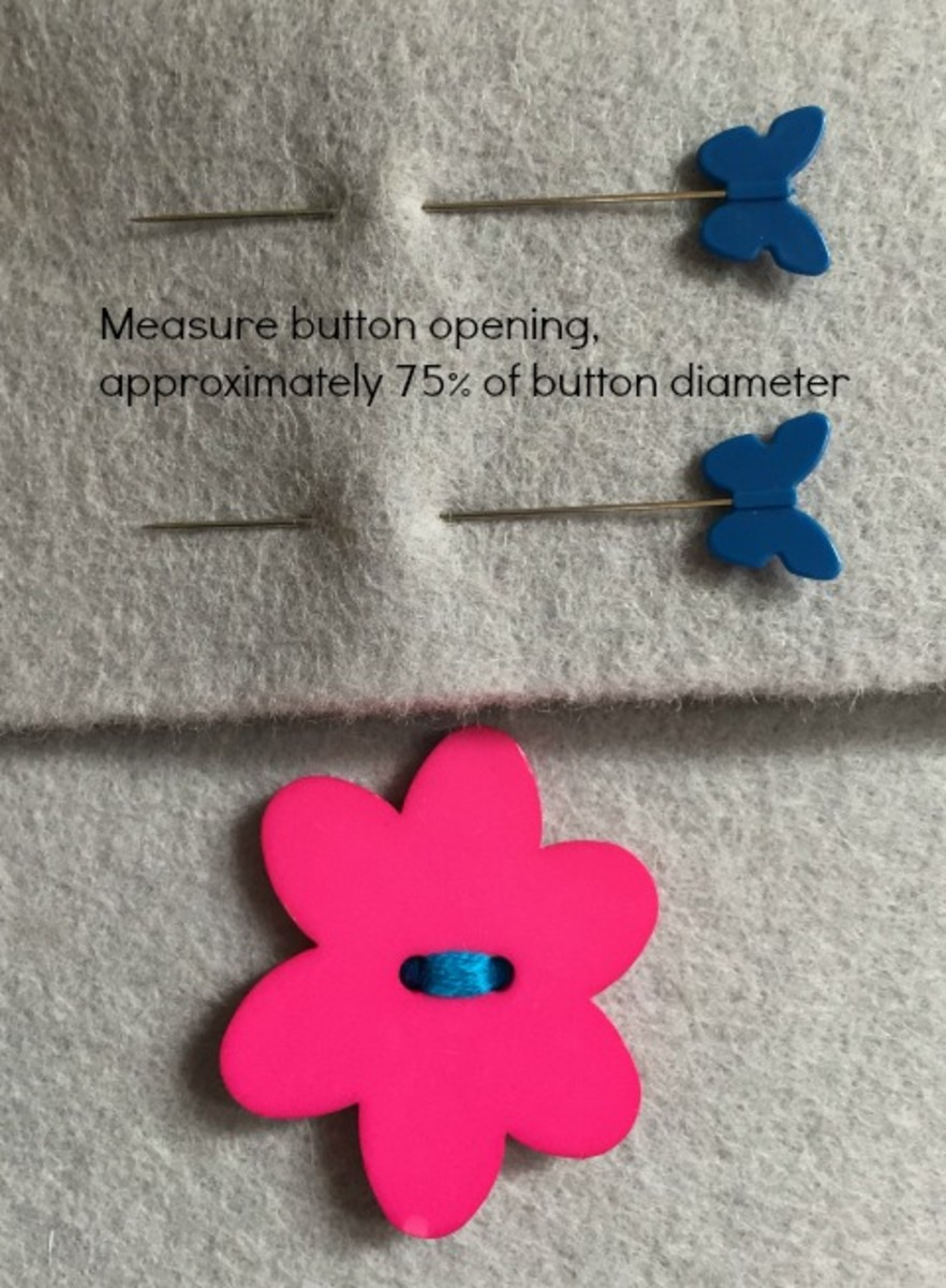 Measure your button hole and cut vertically