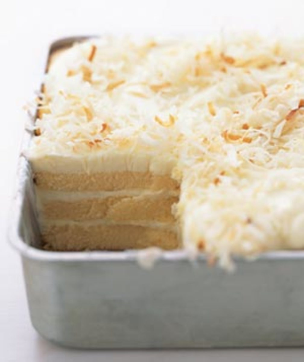 Toasted-Coconut Refrigerator Cake - Image from RealSimple.com