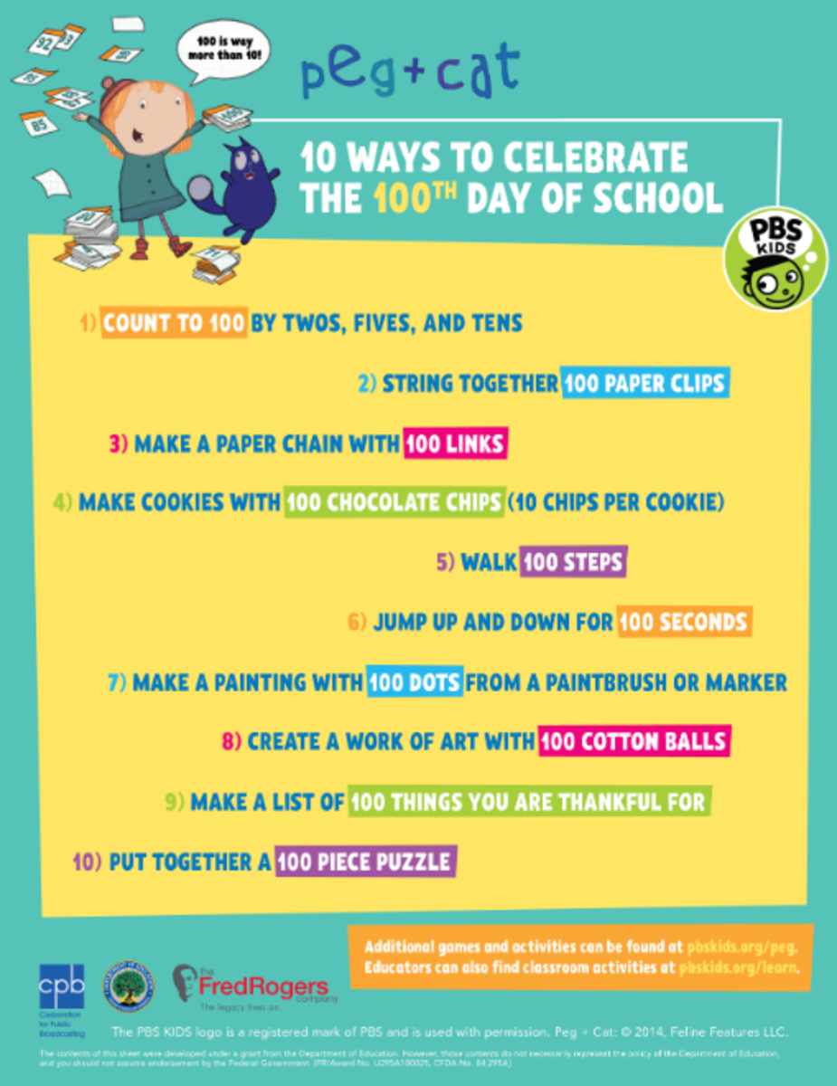 10 Ways to Celebrate the 100th Day of School