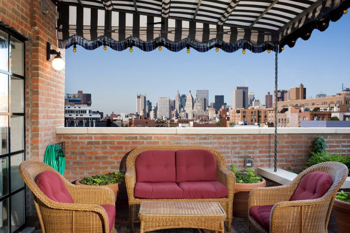 One bedroom terrace at the Bowery Hotel (Courtesy The Bowery Hotel)