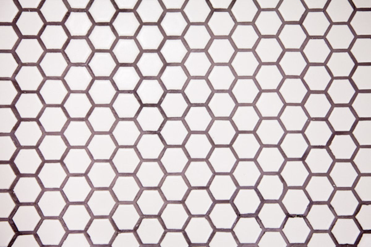 American Olean Hex Honeycomb tile