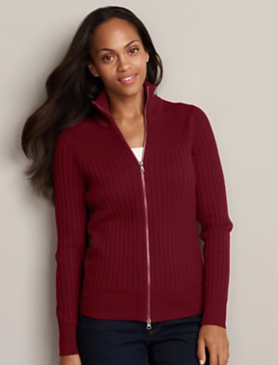 Eddie Bauer Zip Sweater