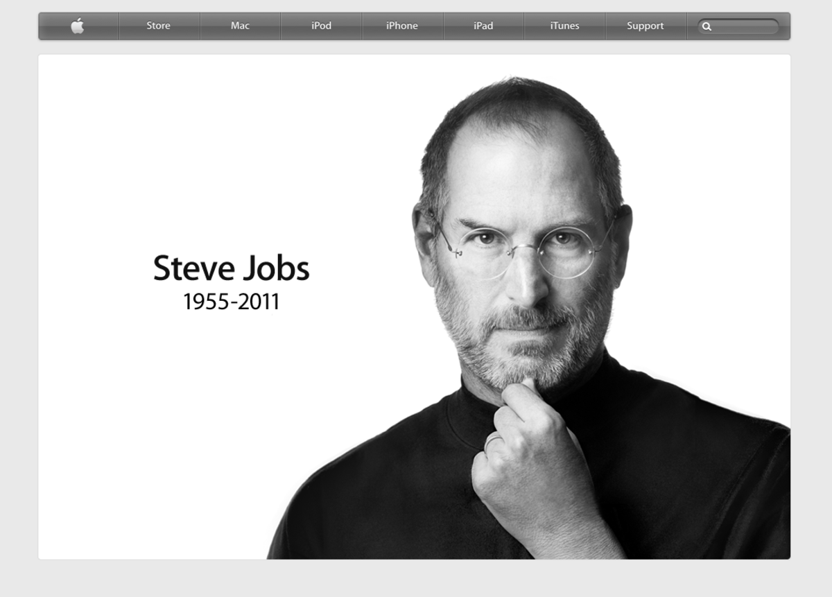 Steve Jobs Apple.com Memorial Page