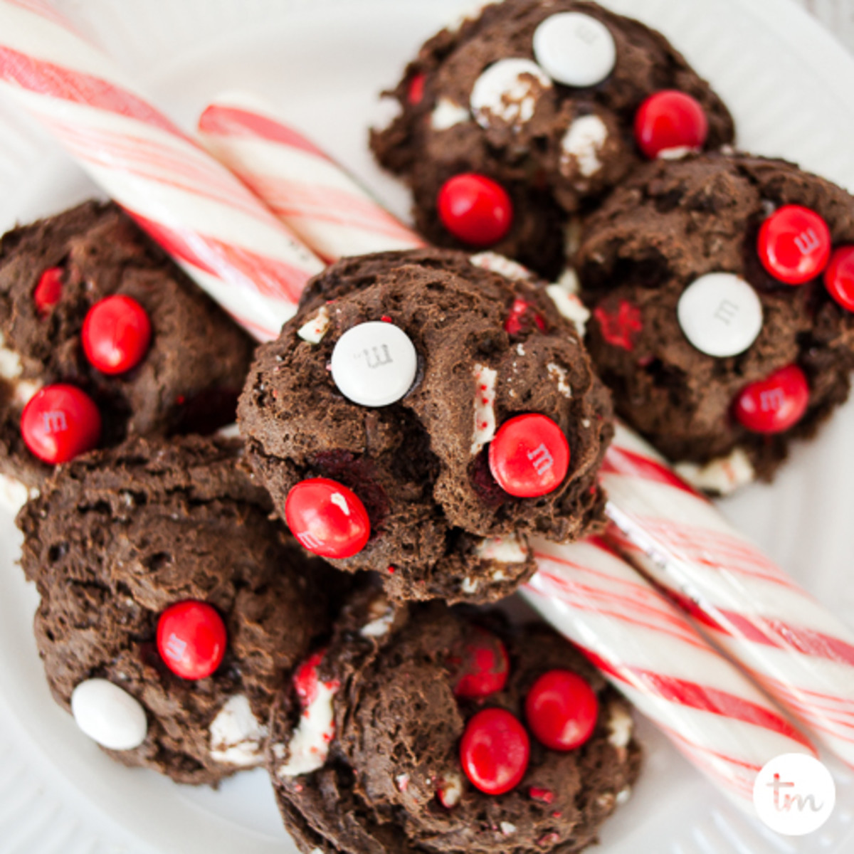 cake mix cookies, cookies made with cake mix, christmas mint cookies