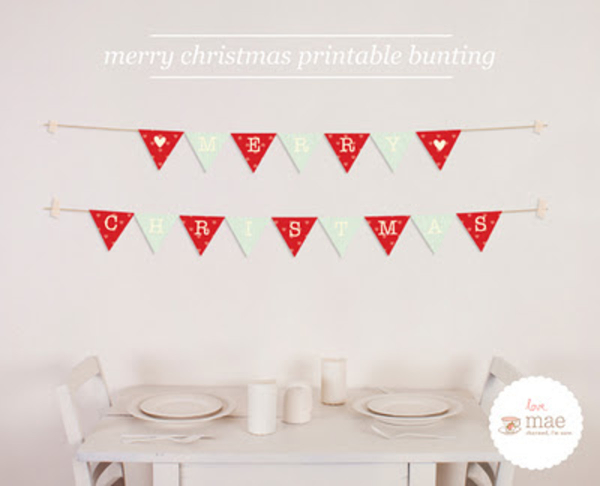 Love_Mae_Merry Christmas Printable Bunting