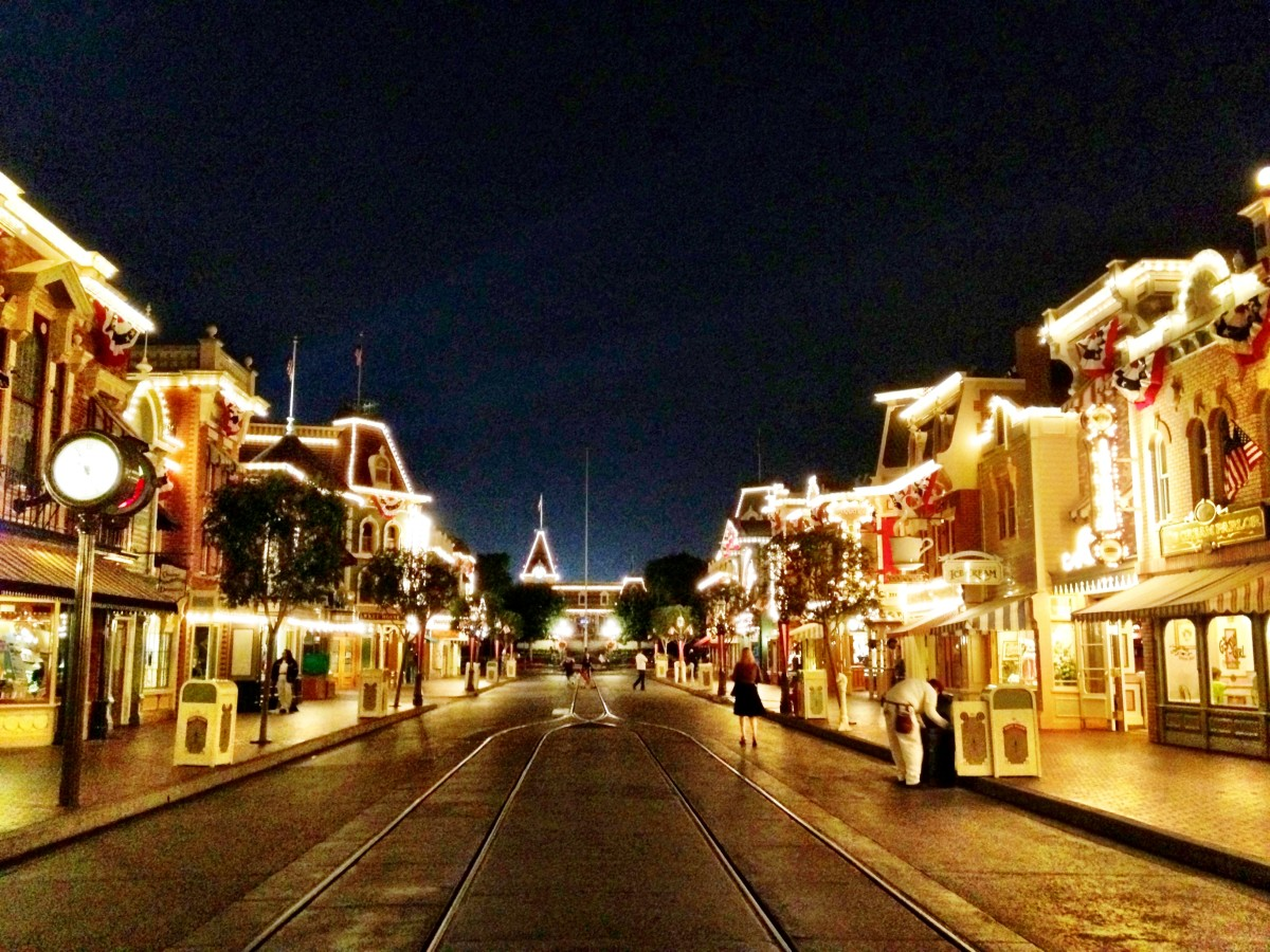 Disneyland Main Street at Night