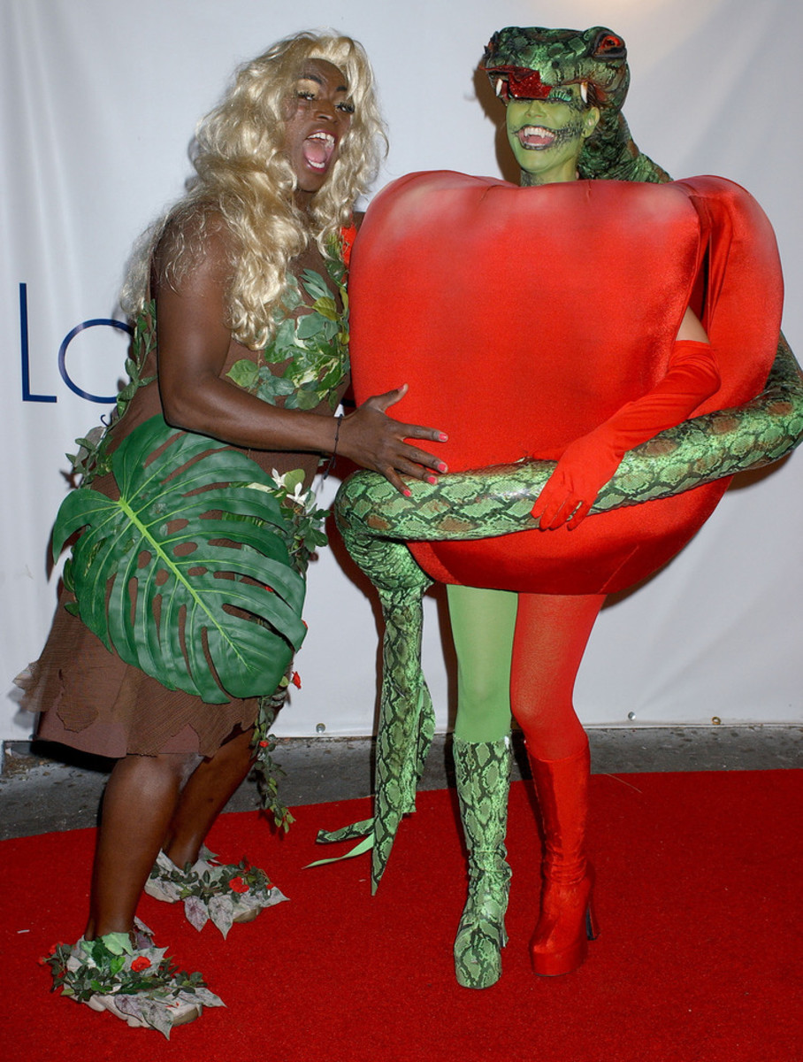 Heidi Klum and Seal as Forbidden Fruit