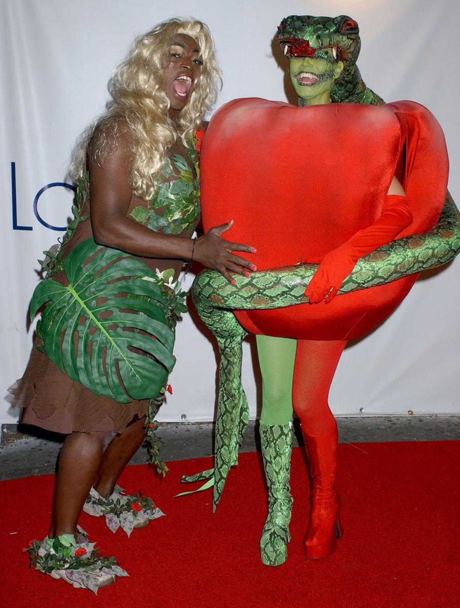 Heidi Klum and Seal as Forbidden Fruit