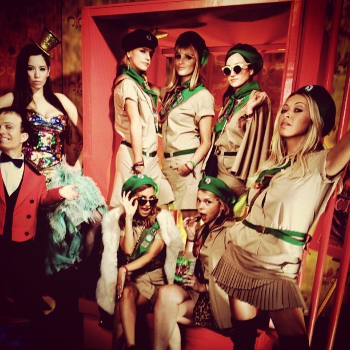 Nicole Richie and friends as Troop Beverly Hills