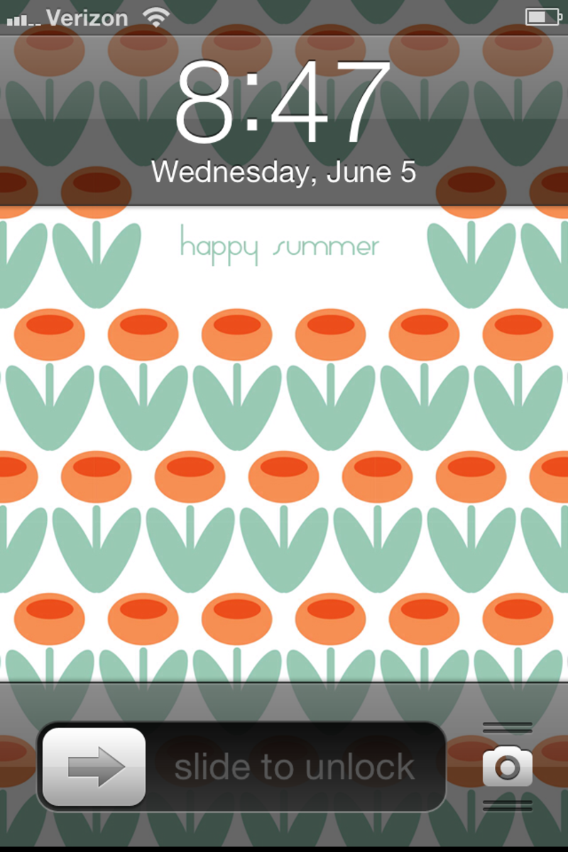 Summer iPhone Wallpaper on TodaysMama.com