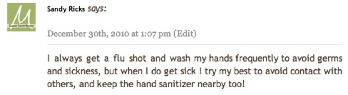 Lysol Comment Day 7