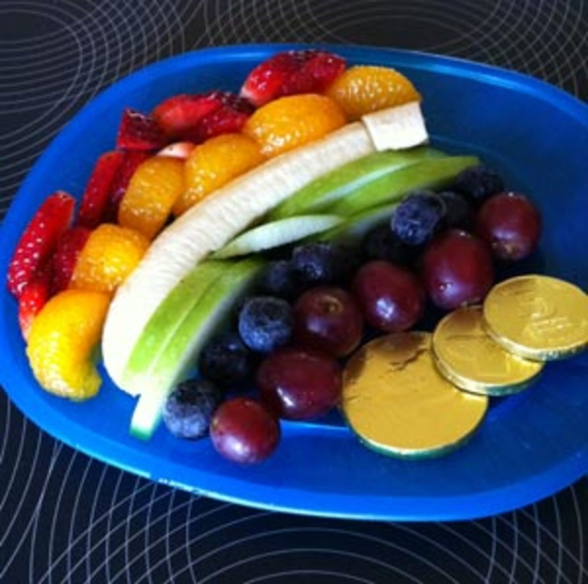 Rainbow-Fruit-Plate-with-Gold-Coins