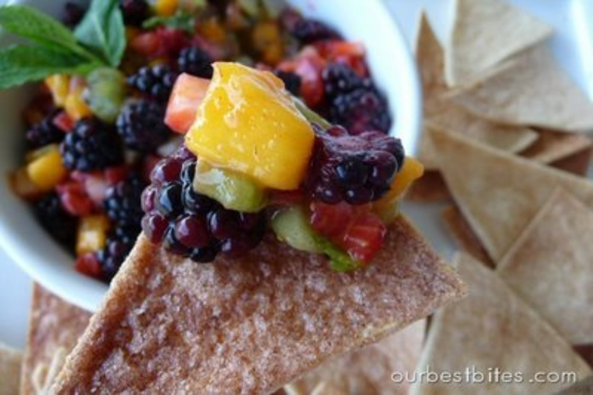 Fruit Salsa and Cinnamon Chips from Our Best Bites