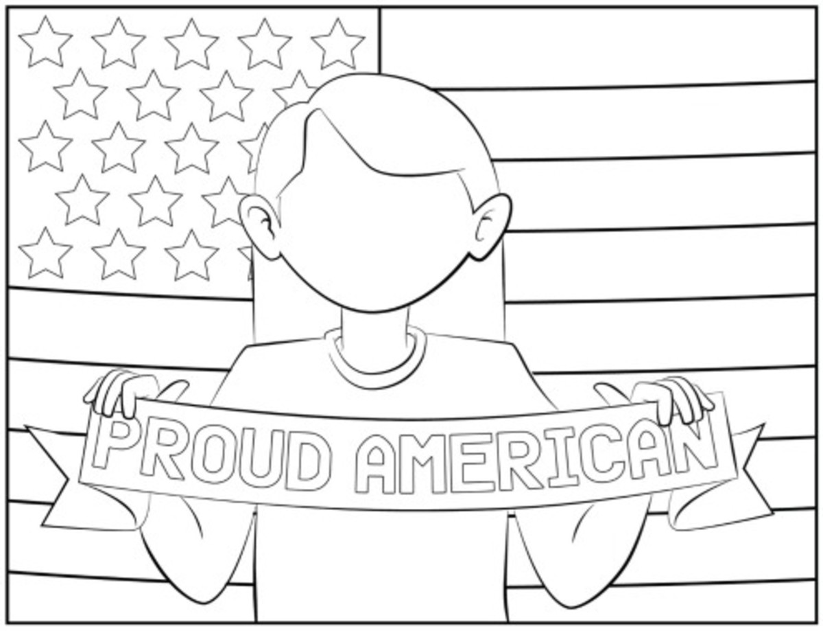 July 4th Coloring Pages on Today's Mama.com Girl Version