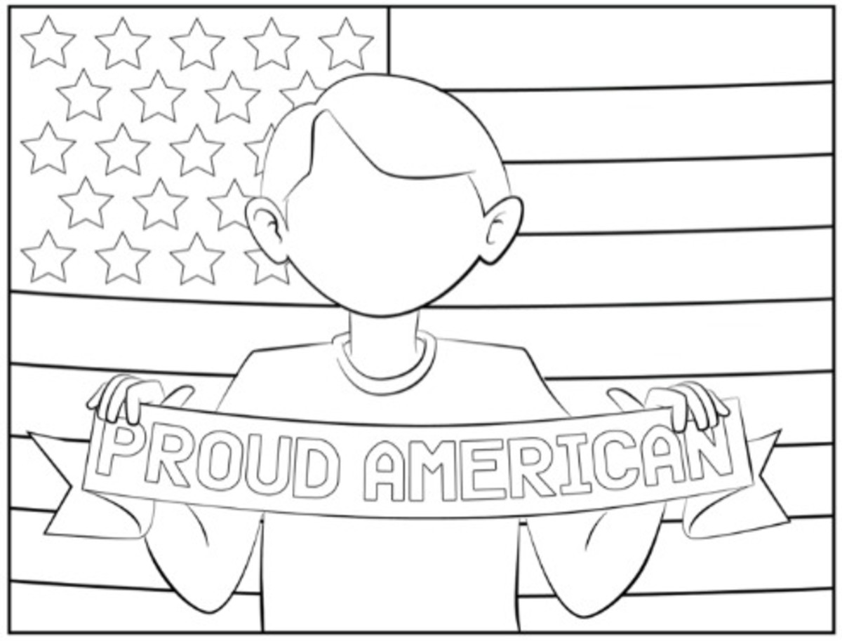 July 4th Coloring Pages on Today's Mama.com Boy Version