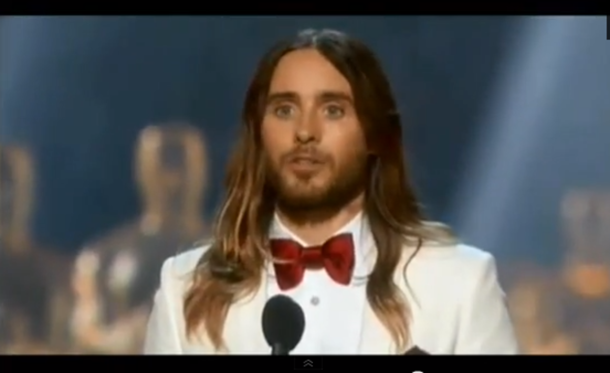 Jared Leto Gives Best Acceptance Speech Ever at Oscars 2014 #Oscars2014