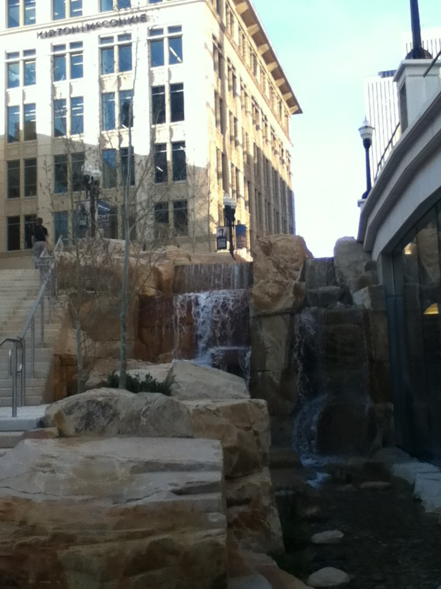 waterfall at city creek