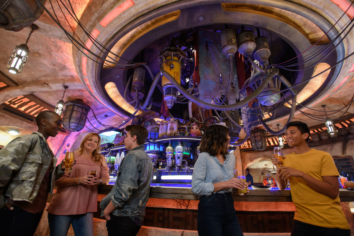 Inside Oga's Cantina. Photo Credit: Disney Parks.