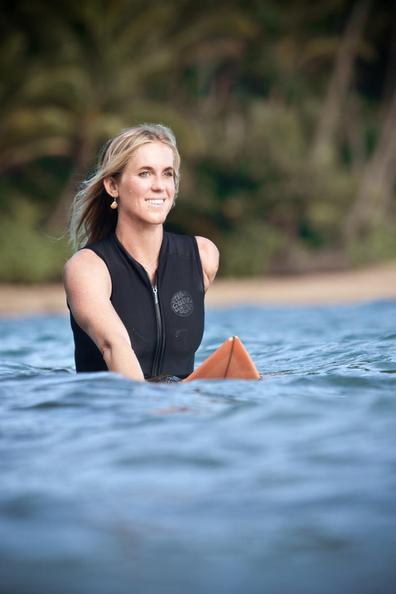 Bethany Hamilton on surf board