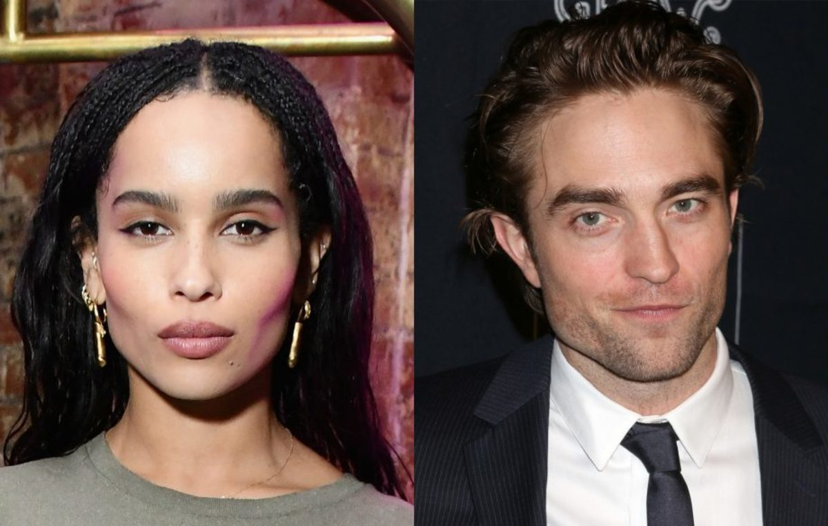 zoe kravitz and robert pattinson