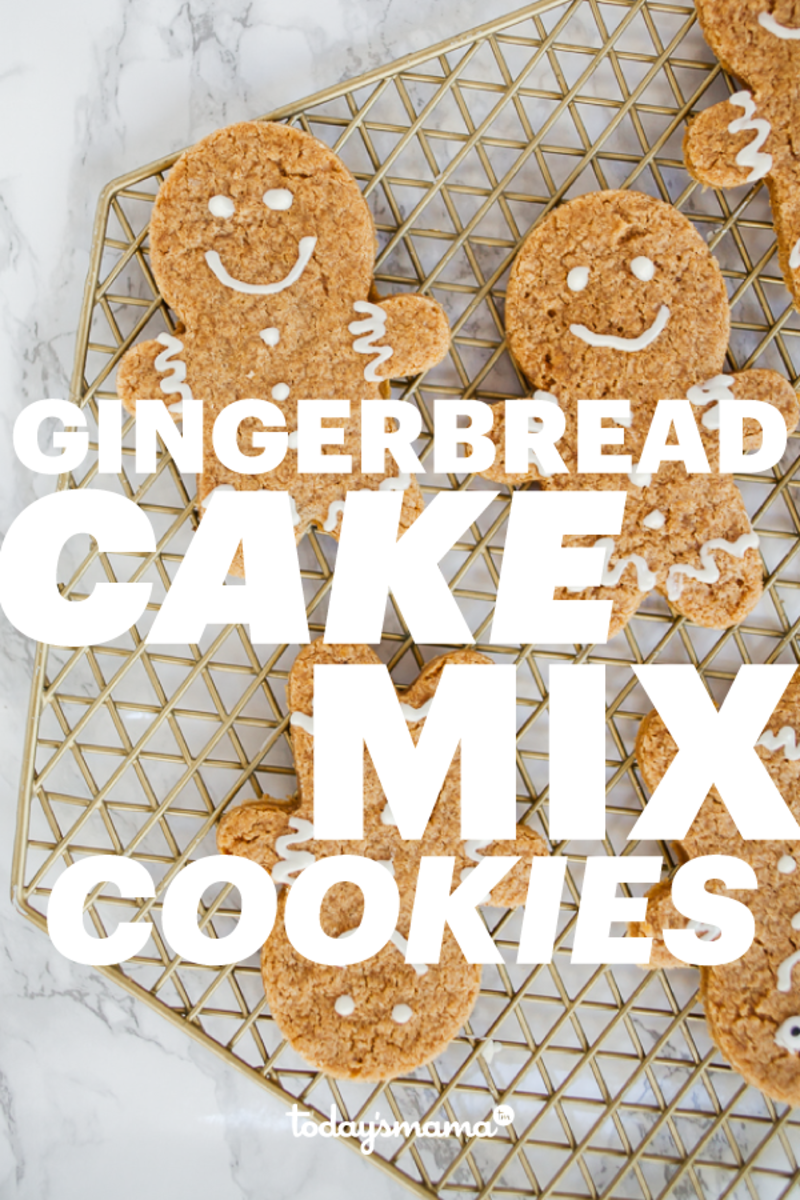 gingerbread cake mix cookies