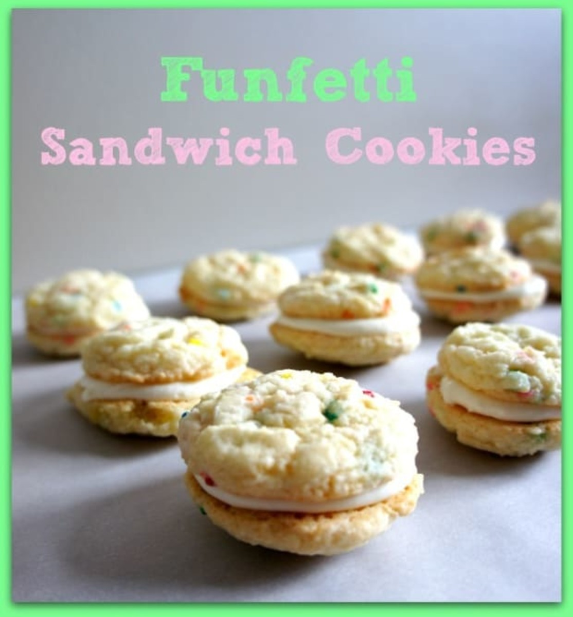 Recipe for Funfetti Cake Mix Sandwich Cookies
