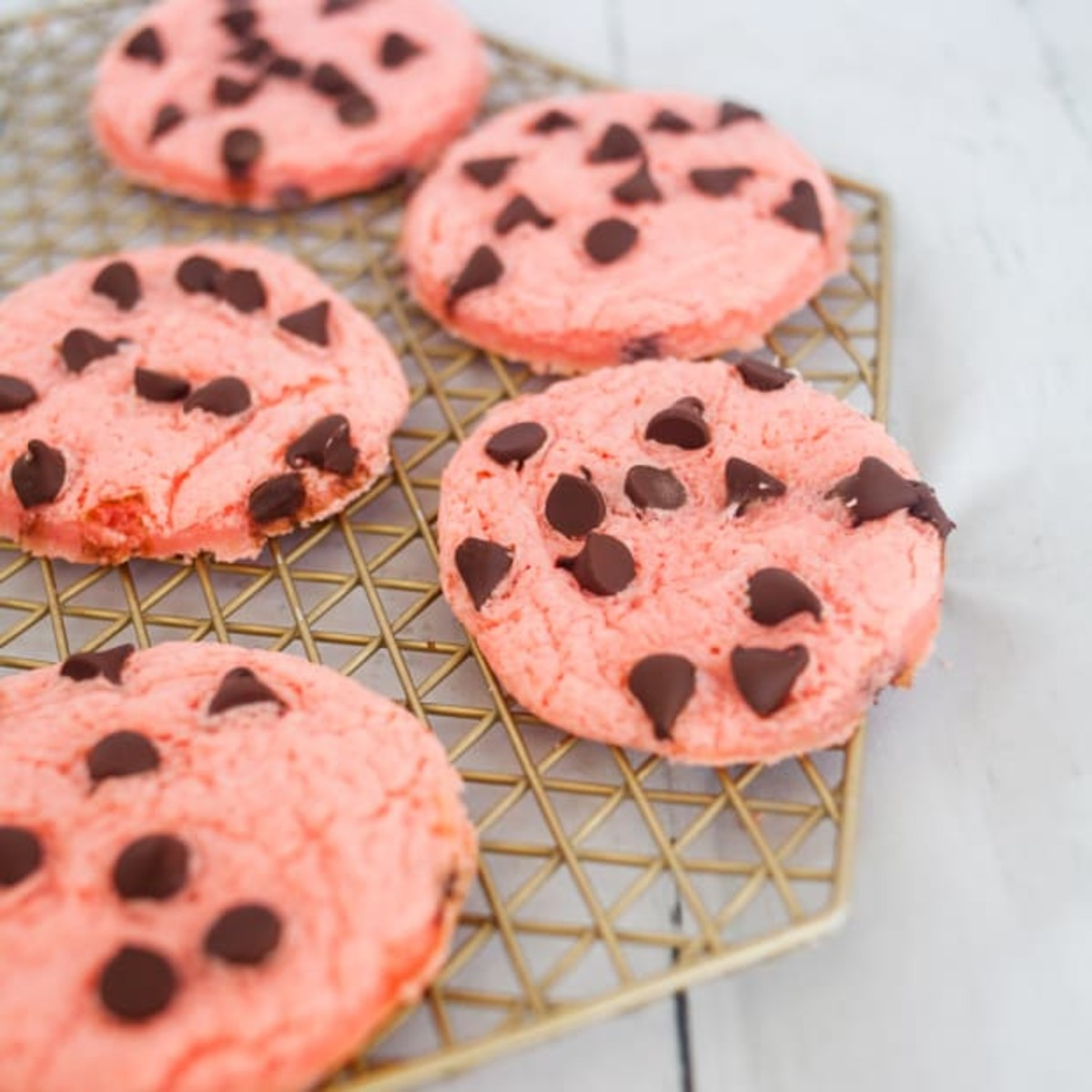 Strawberry Cheesecake Cake Mix Cookies with Pudding