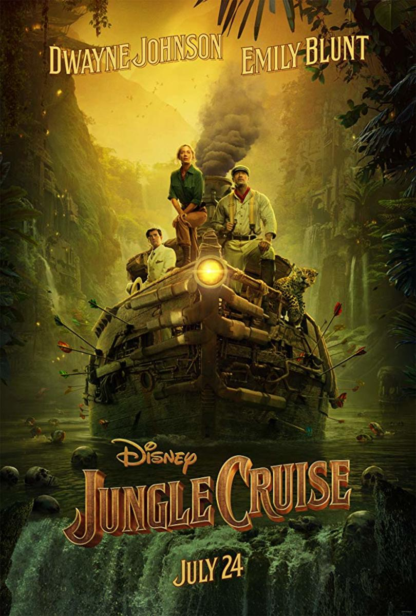 "We all love a movie based on a Disneyland theme park ride! Jungle Cruise is about a small riverboat taking a group of travelers through a jungle filled with dangerous animals and reptiles, but with a supernatural element—starring Emily Blunt (yay!) and Dwayne ""The Rock"" Johnson."