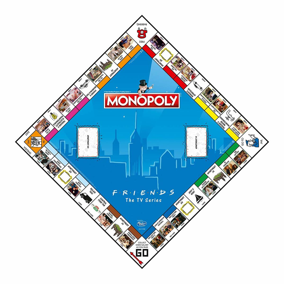 Friends Monopoly Board