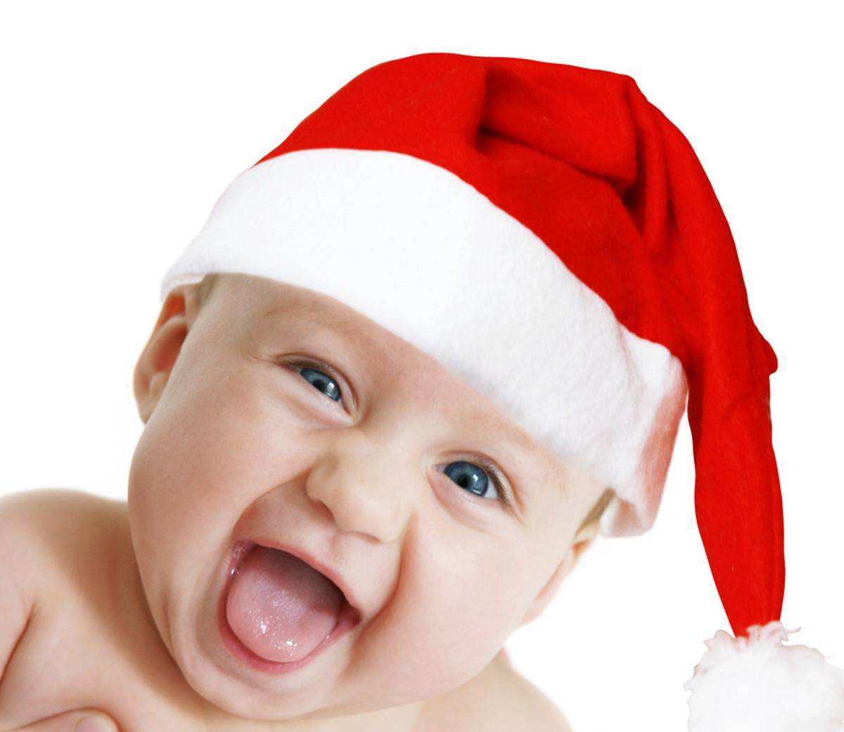 bigstock-Baby-Santa-3961271