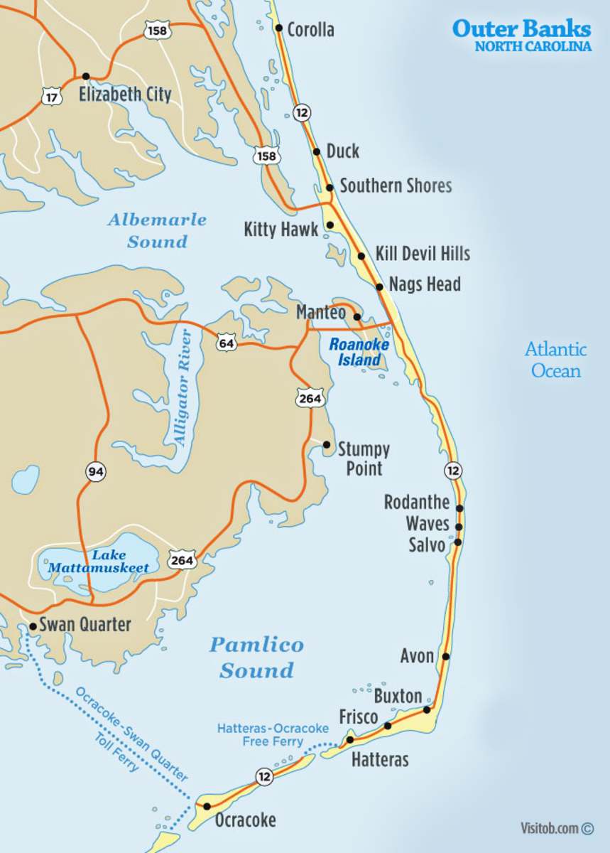 What are the Outer Banks Map