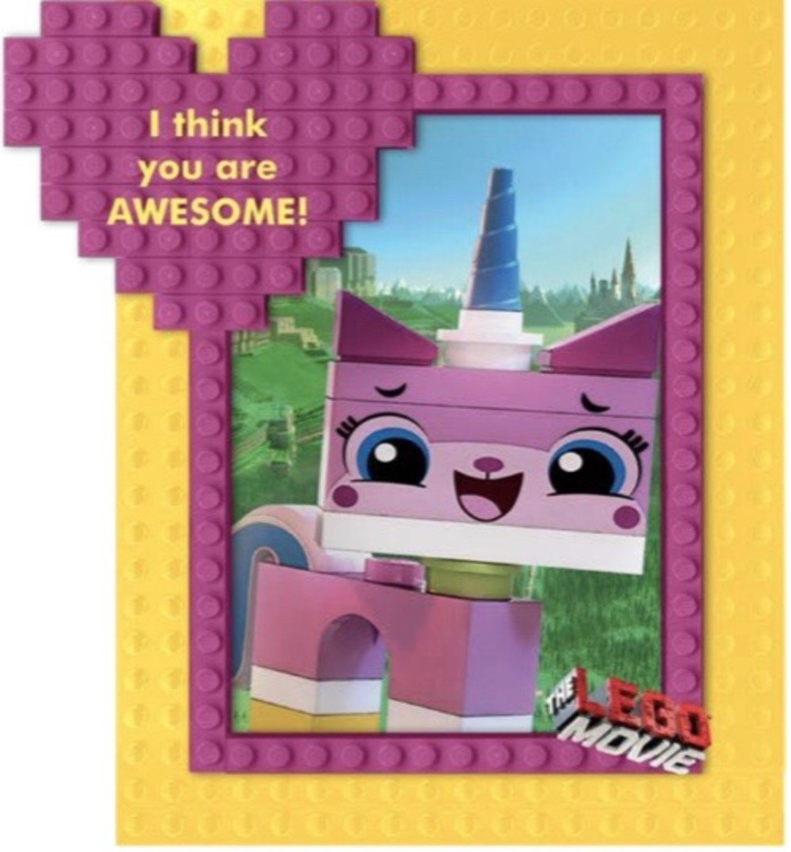 Unikitty Valentine Card
