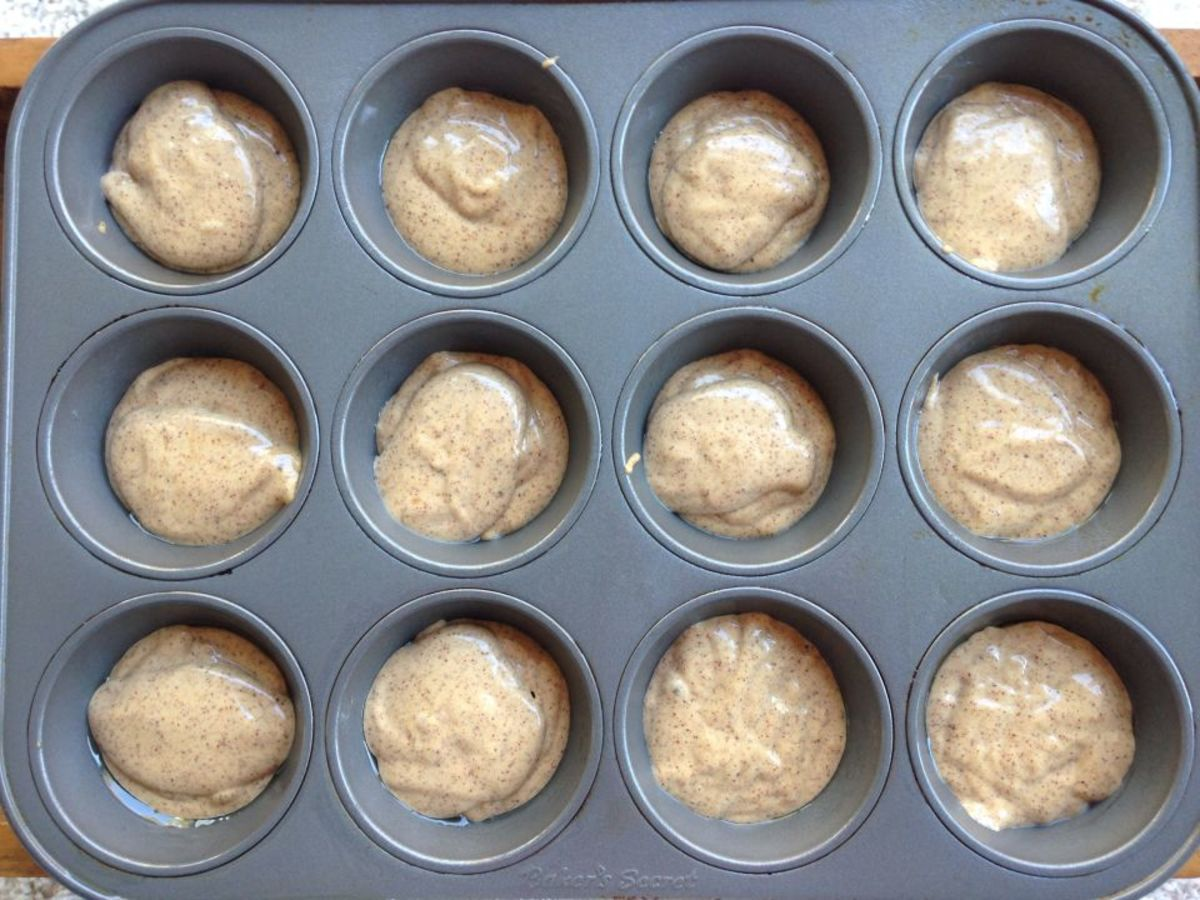 Homemade Almond Butter Banana Muffin Batter