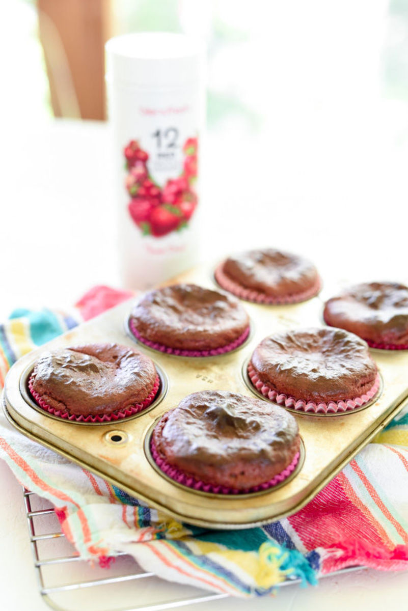 Almond Butter Banana Berry Muffins