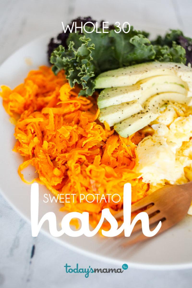 Whole 30 breakfast sweet potato hash