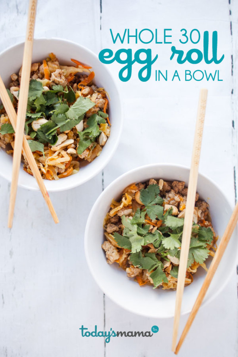 Whole 30 Egg Roll in a Bowl Dinner Recipe