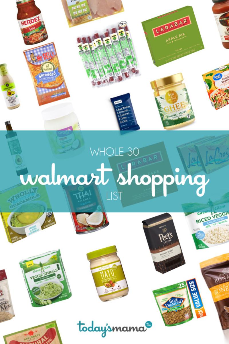 Walmart Whole 30 Shopping List