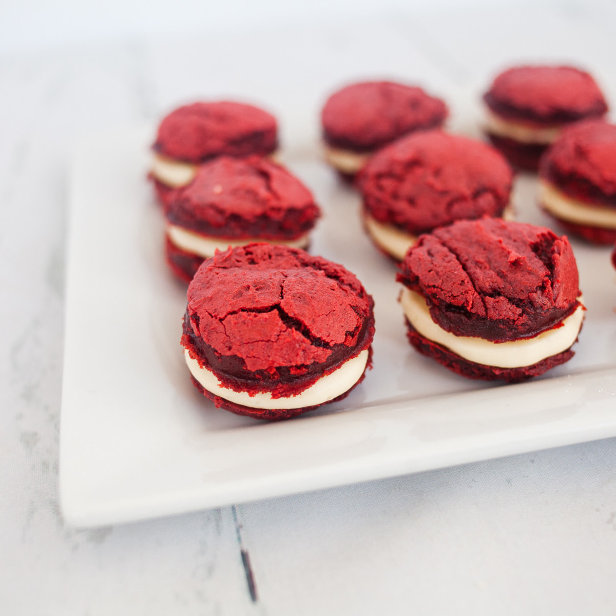 red velvet cake mix cookie bites