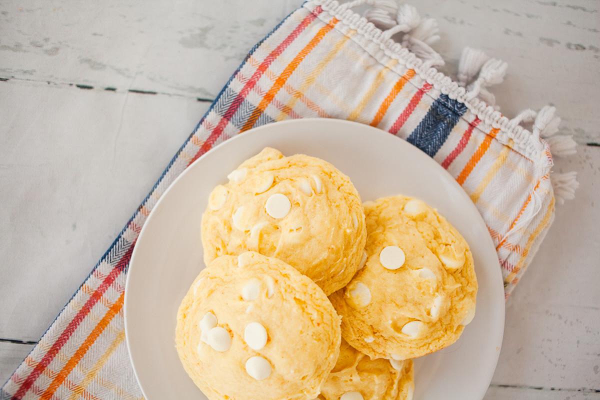 Banana Cream Pie Cake Mix Cookies