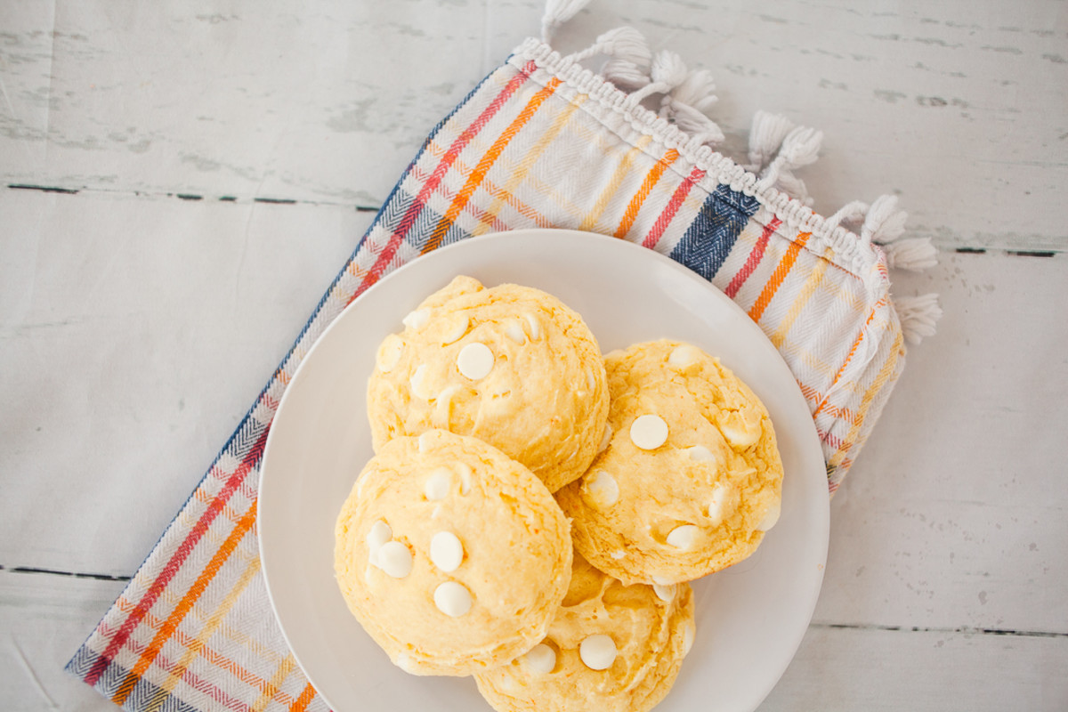 Banana Cream Pie Cake Mix Cookies recipe