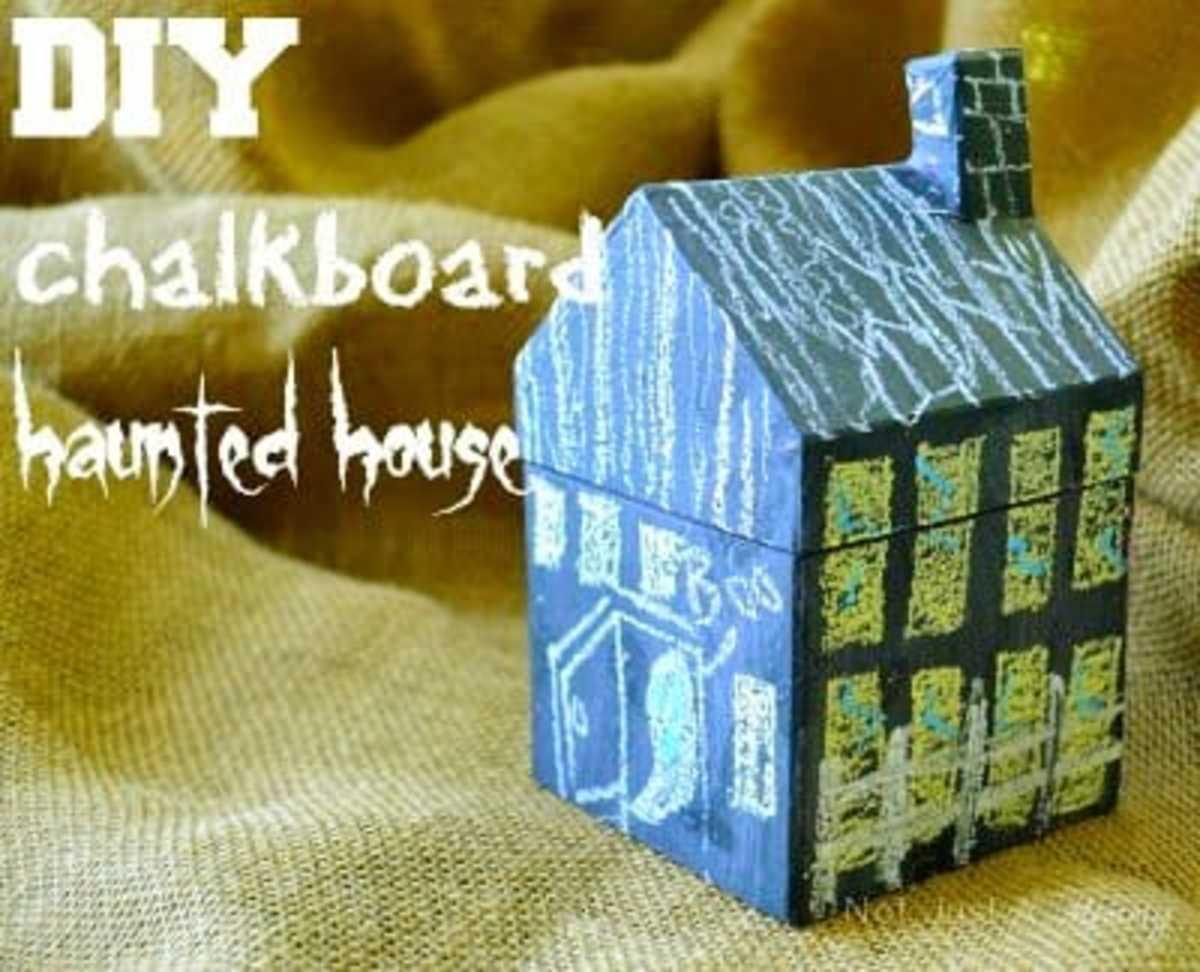 Chalkboard Halloween House