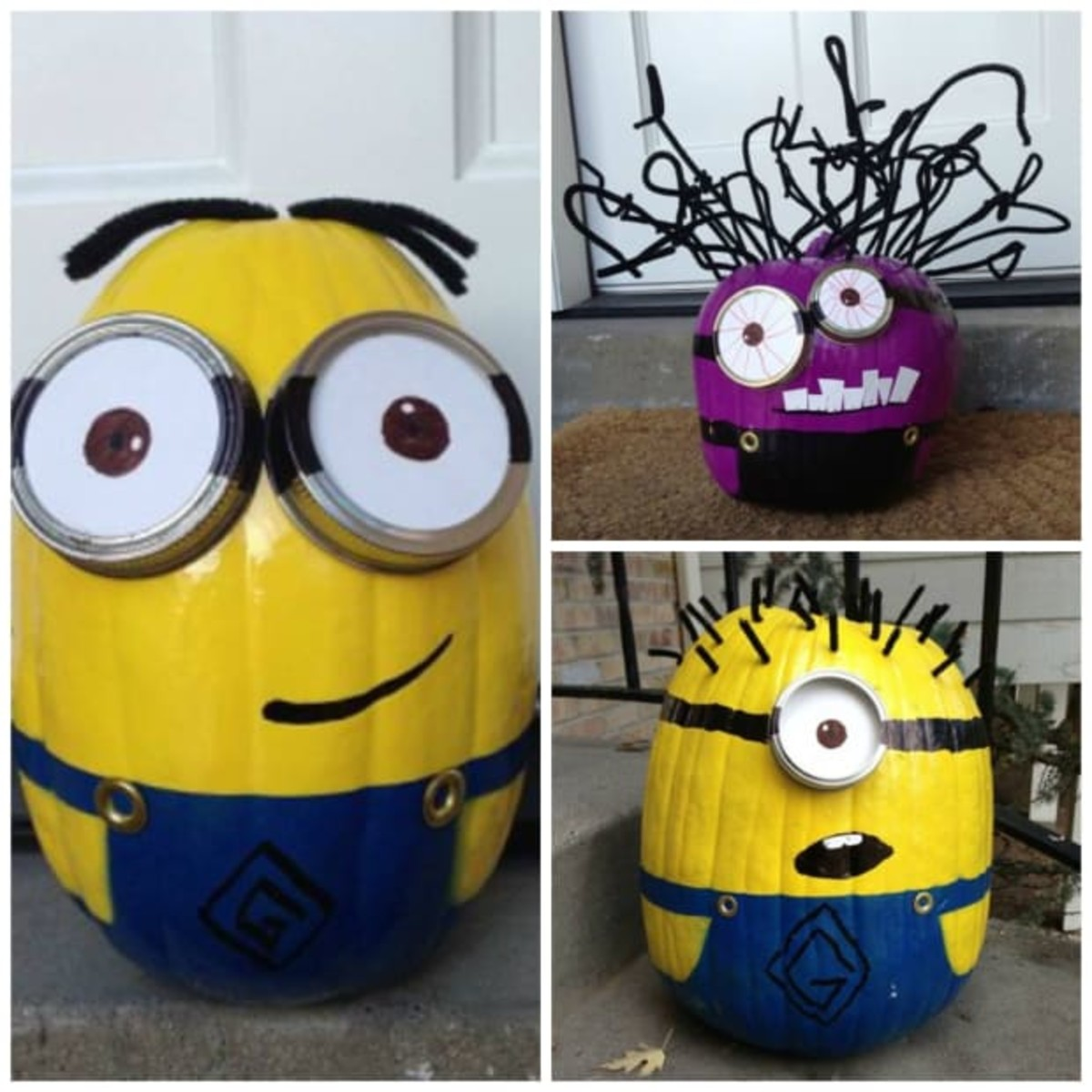 Spray Paint Minion Pumpkins